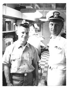 Lt. JG Irvine & Warrant Officer Dennis